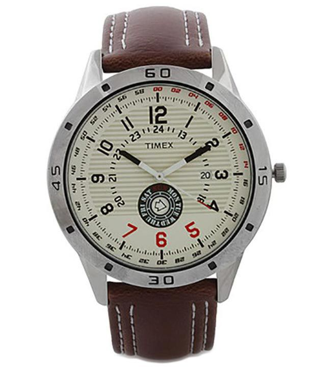 3064ab1fabd2 Timepiece TI000U90000 Brown Leather Analog Watch - Buy Timepiece  TI000U90000 Brown Leather Analog Watch Online at Best Prices in India on  Snapdeal