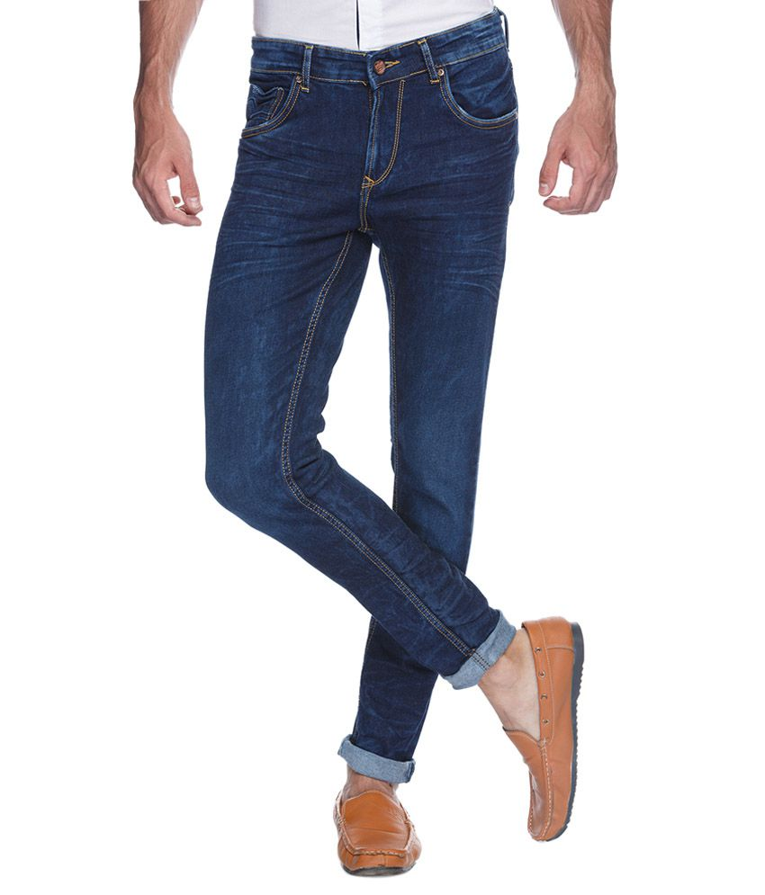Spykar Blue Super Skinny Fit Jeans