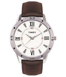Timex TI002B11300 Brown Leather Analog Watch