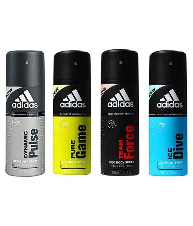 Best Antiperspirant For Men: Adidas 150 Ml Men's Deodorant Spray Pack Of 4: Buy Online