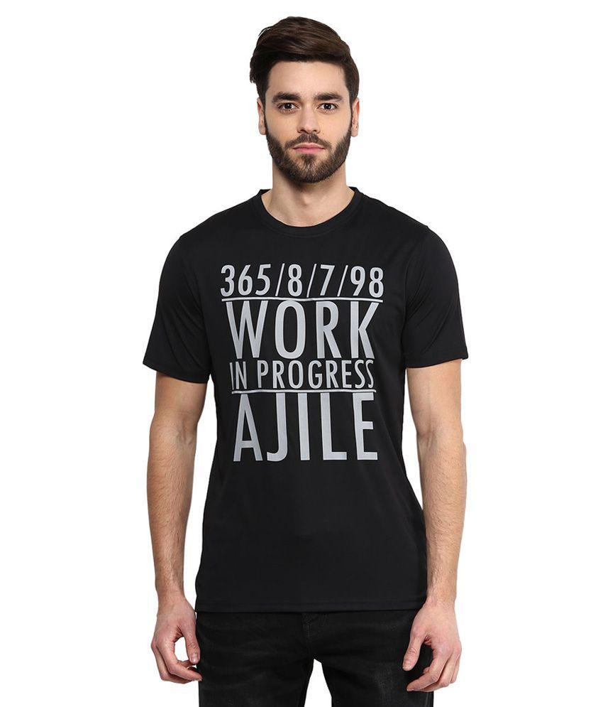 Ajile By Pantaloons Black Round Neack T Shirt