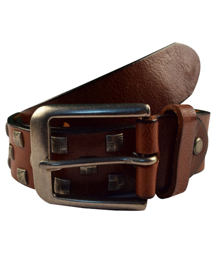IPG Brown Leather Belt For Men