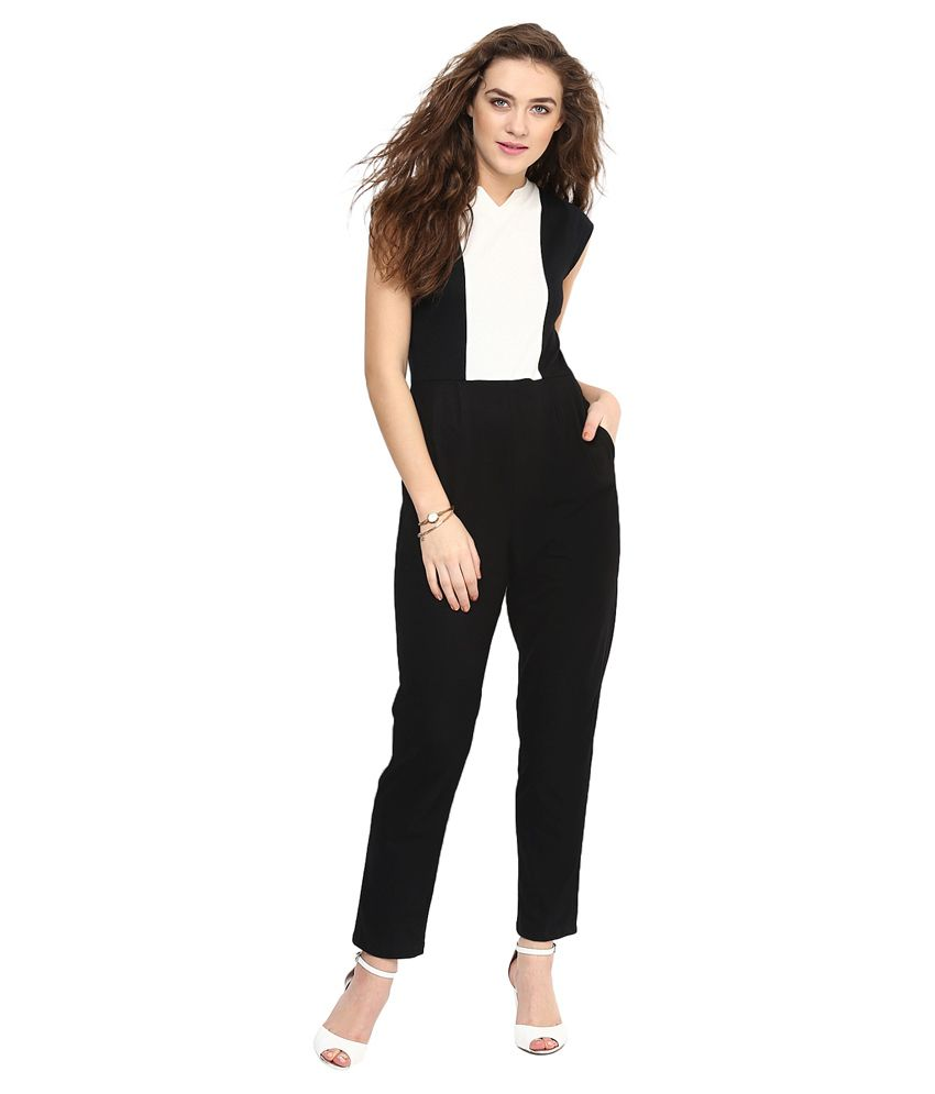 Uptownie Lite Black Cotton Jumpsuits