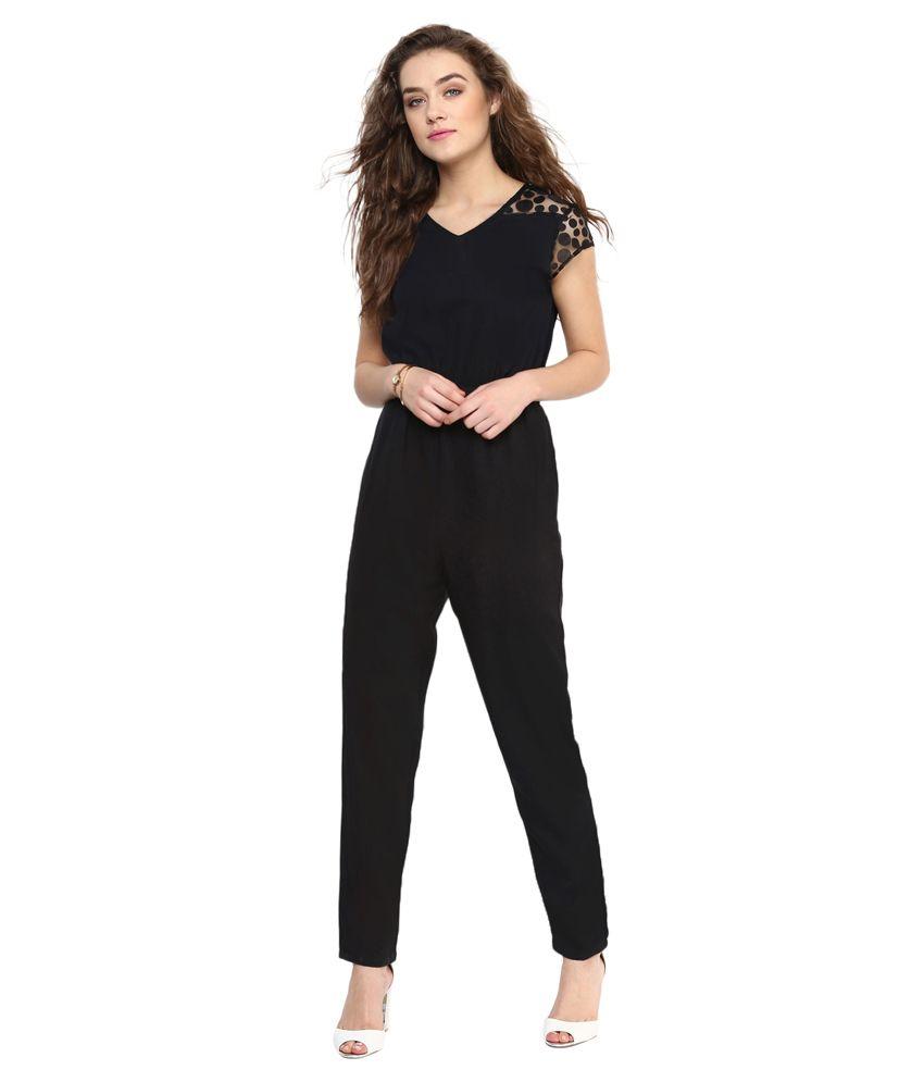Uptownie Lite Black Polyester Jumpsuits