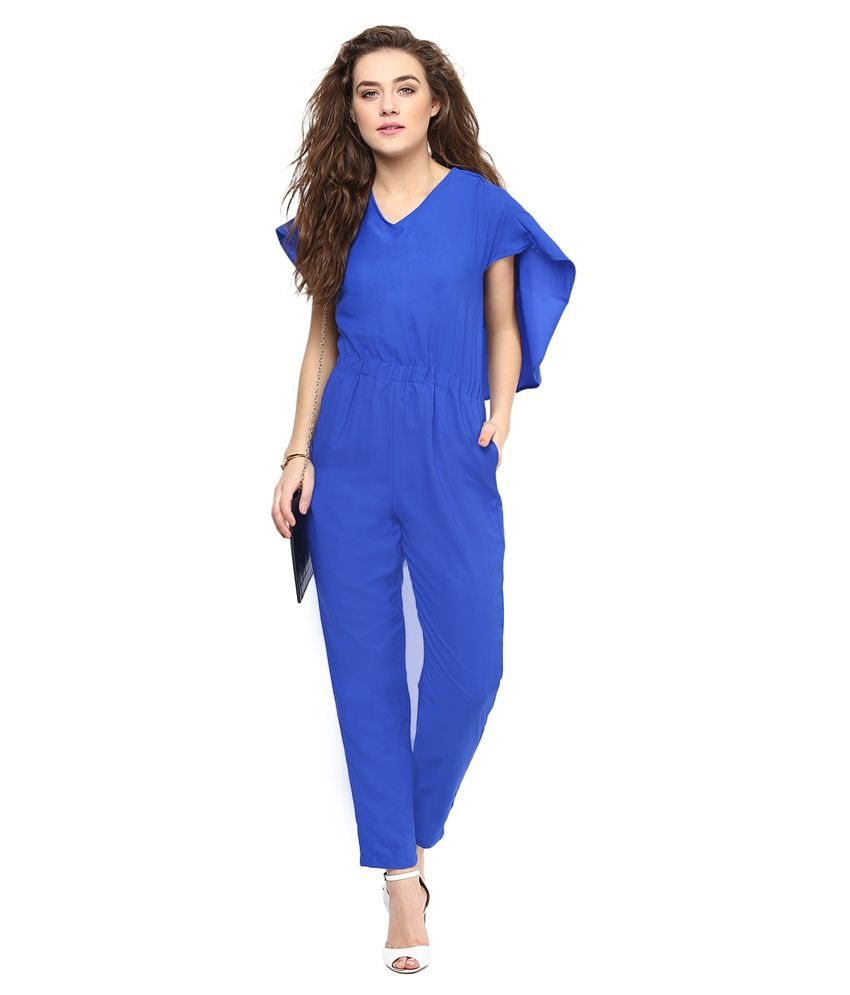 Uptownie Lite Blue Polyester Jumpsuits