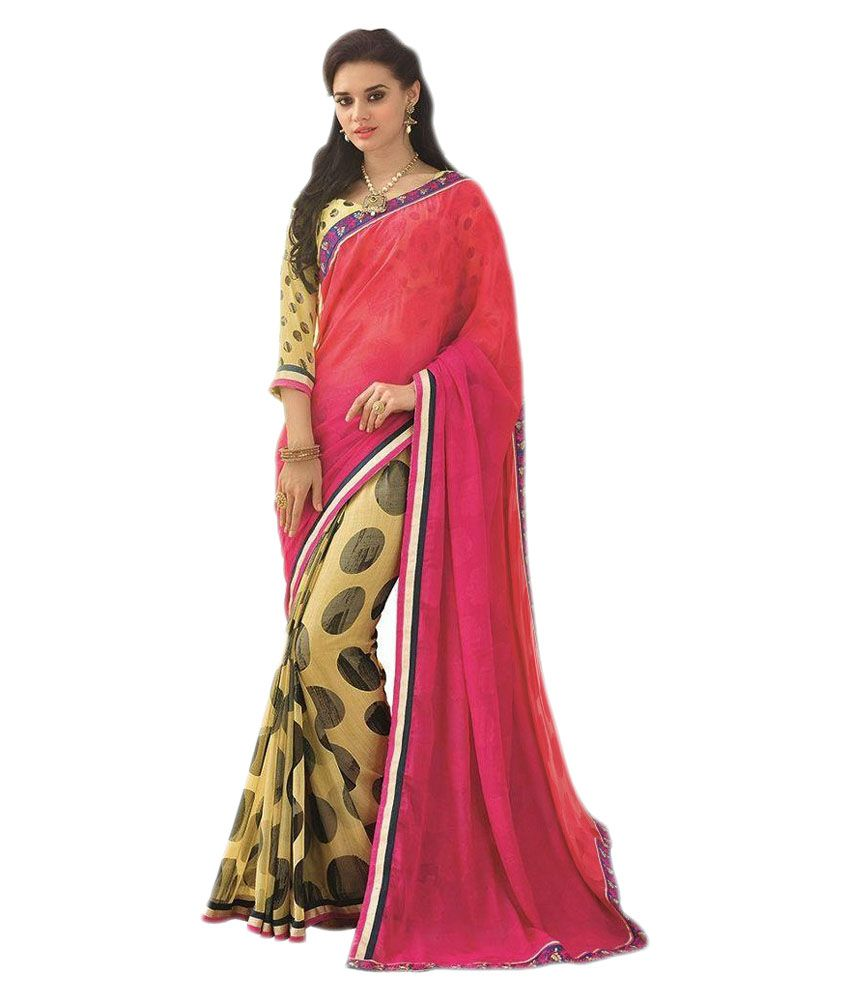 df97d6be3b3 Vipul saree Multicoloured Georgette Saree - Buy Vipul saree Multicoloured  Georgette Saree Online at Low Price - Snapdeal.com