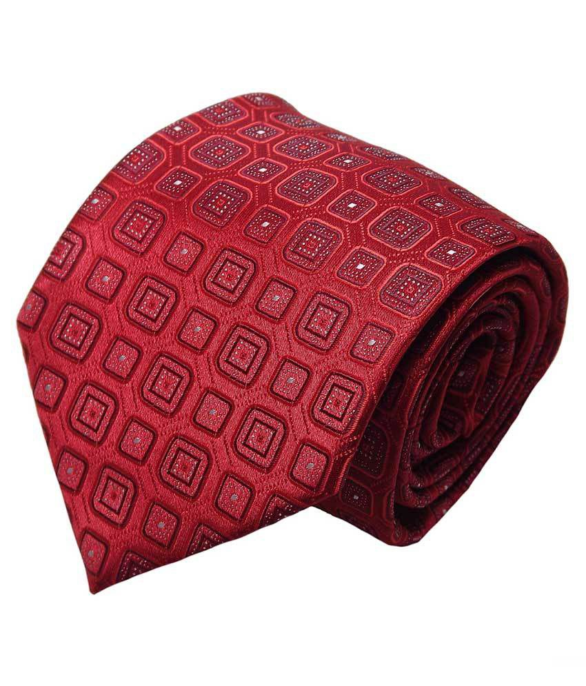 Mentiezi Maroon Micro Fiber Broad Tie For Men