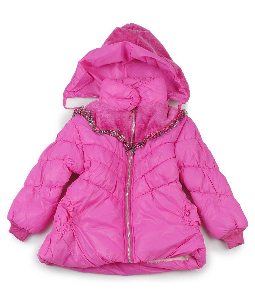 Addyvero Pink Padded Jacket For Girls