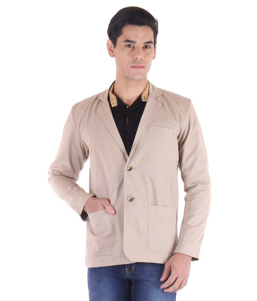 Fifty Two Beige Casual Blazers