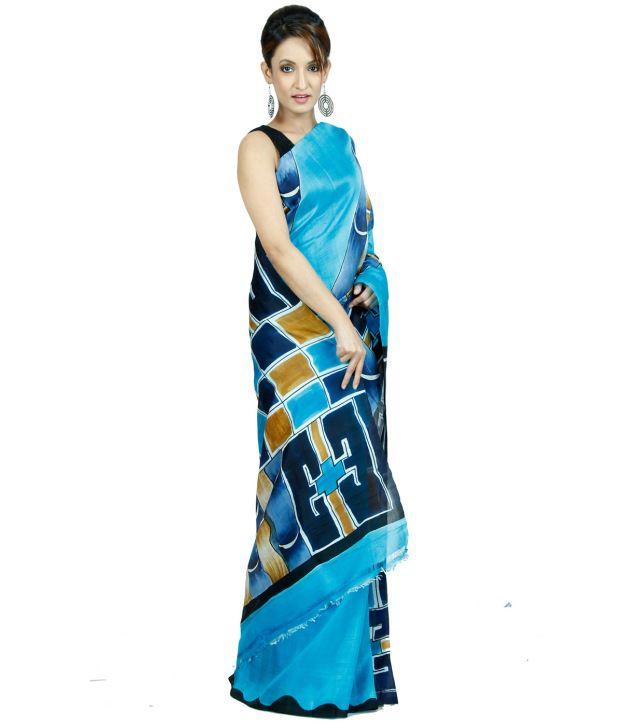 Navrang Blue Silk Saree
