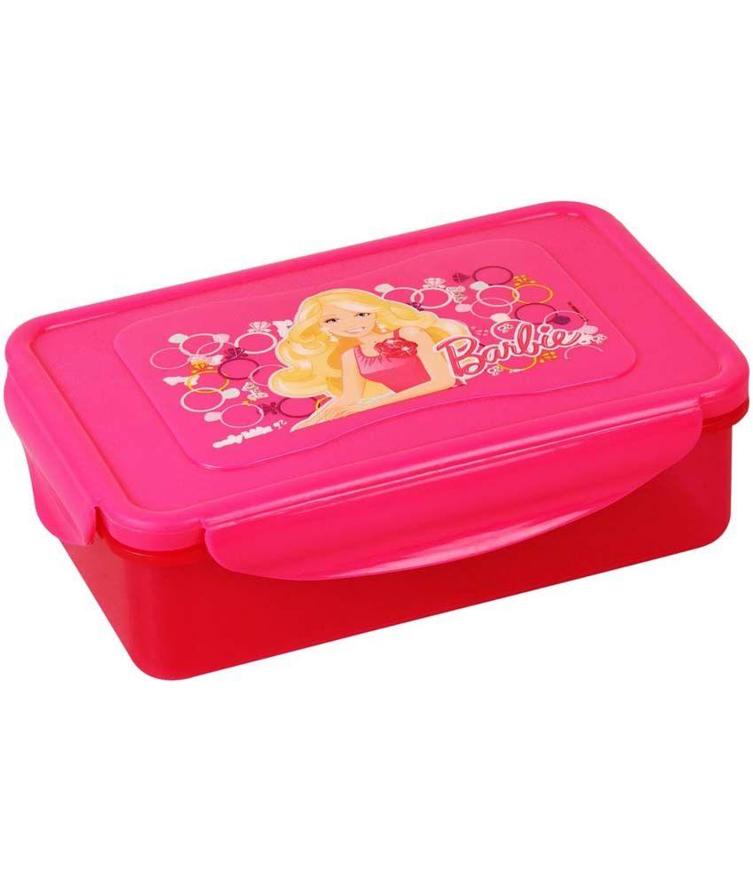 Barbie Pink Virgin Plastic Tiffin Box Pack of 2: Buy ...