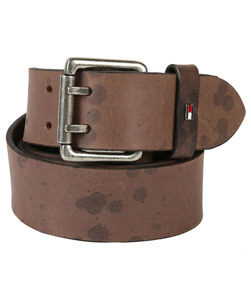 Tommy Hilfiger Casual Gray Casual Leather Belt for Men