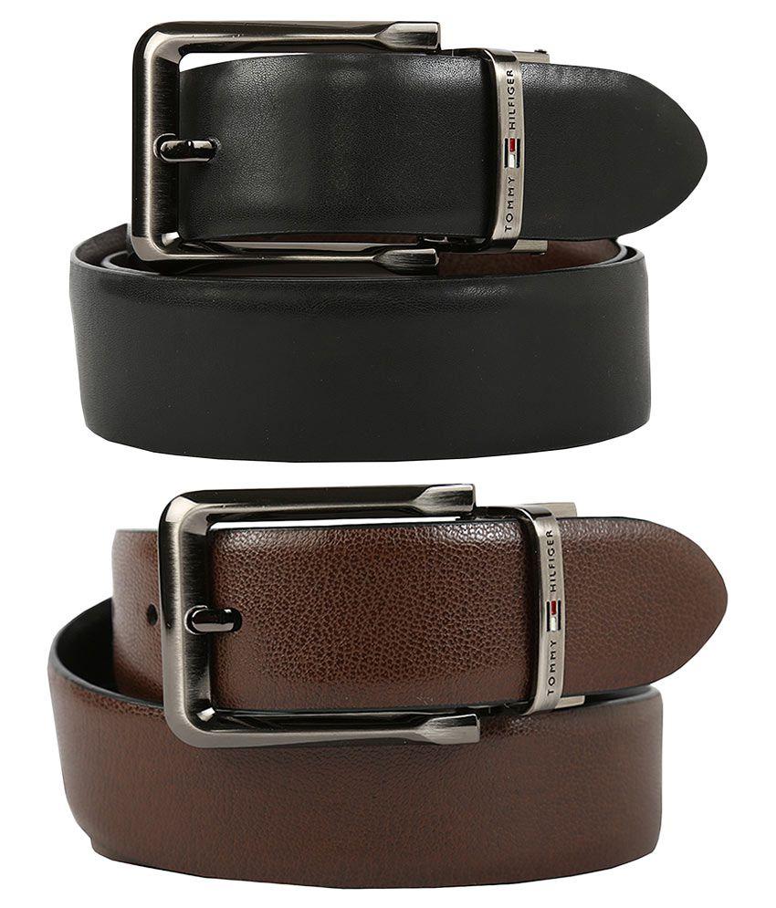 Tommy Hilfiger Formal Black Formal Leather Belt for Men
