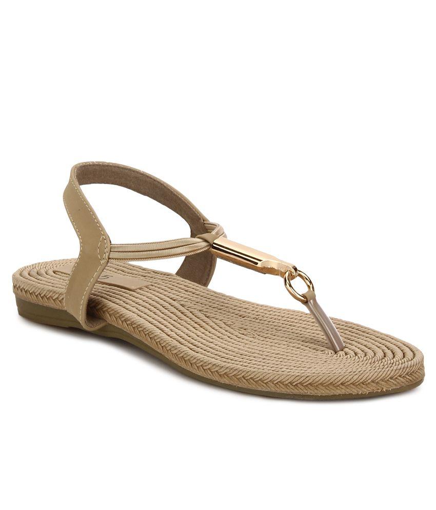 2fef9fcba4f Inc.5 Beige Flat Sandals Price in India- Buy Inc.5 Beige Flat Sandals Online  at Snapdeal
