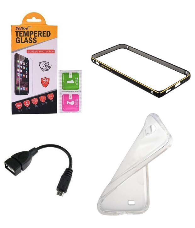 Transparent Cover And OTG Cable Tempered Glass Screen Guard by Soroo