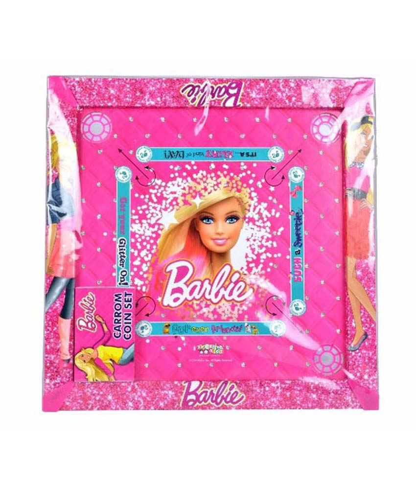 Barbie 2-in-1 Carrom Board with Snakes and ladders Game
