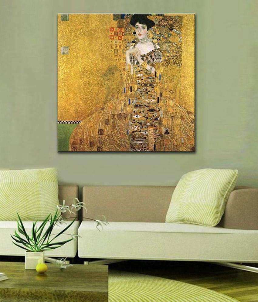 Tallenge Adele BlochBauer By Gustav Klimt Rolled Canvas Art Print