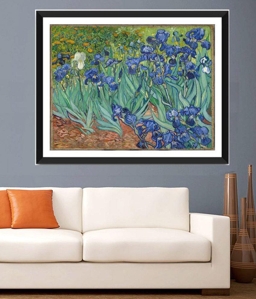 Tallenge Irises By Vincent Van Gogh Framed Art Print