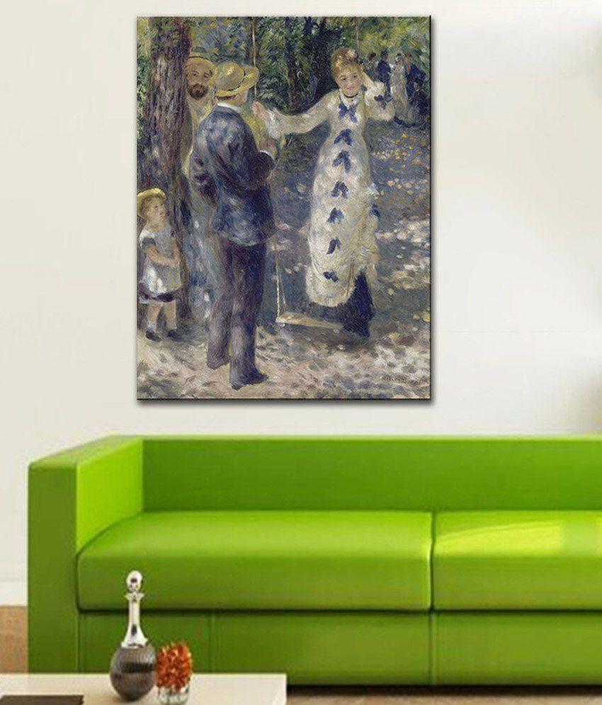 Tallenge La Balancoire By PierreAuguste Renoir Rolled Canvas Art Print