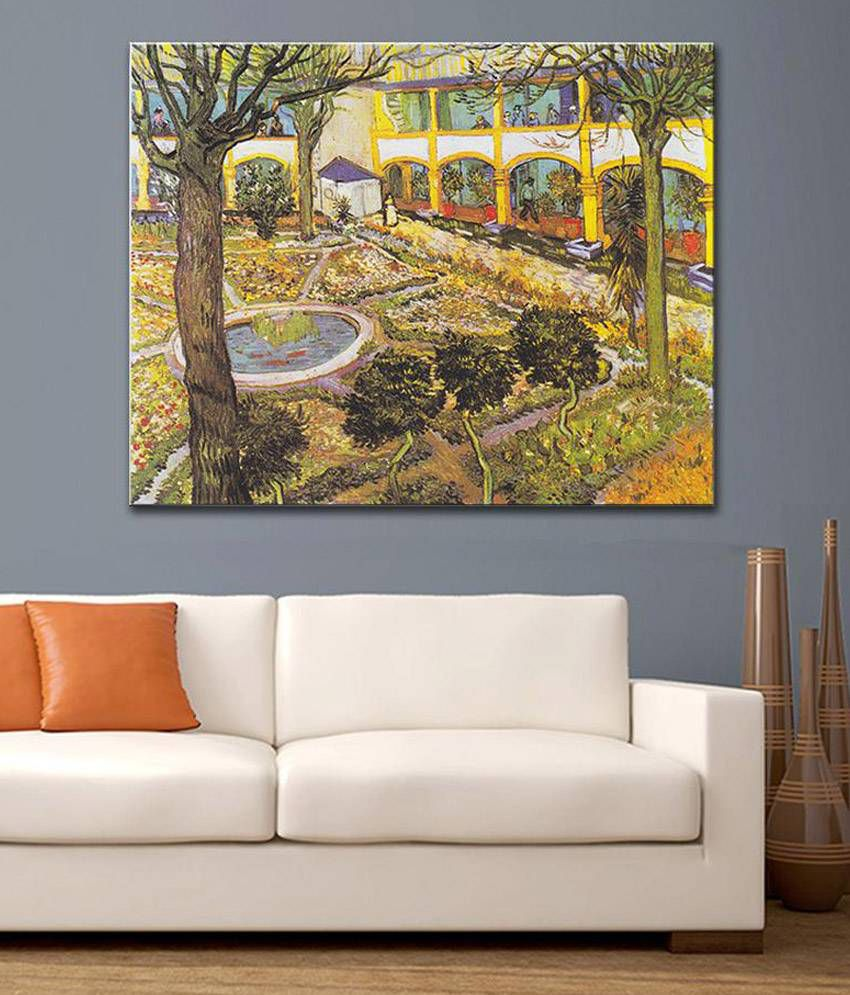 Tallenge The Asylum Garden At Arles By Vincent Van Gogh Rolled Canvas Art Print