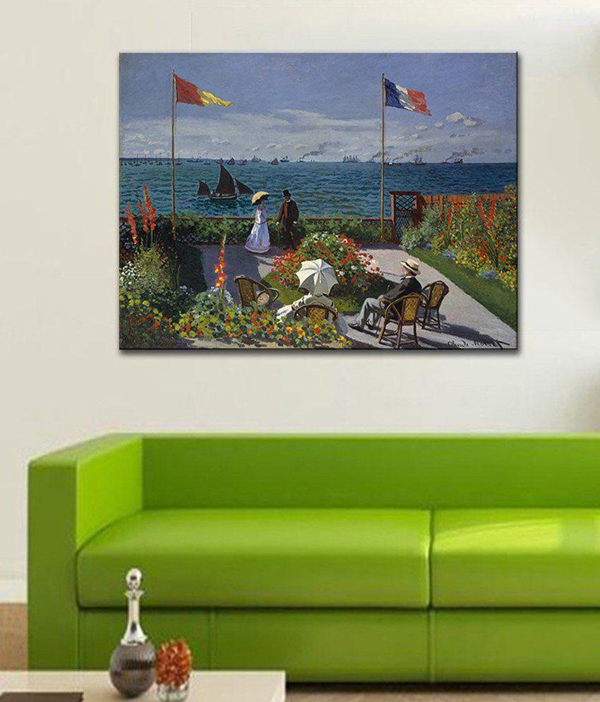 Tallenge The Terrace at SainteAdresse By Claude Monet Gallery Wrap Canvas Art Print