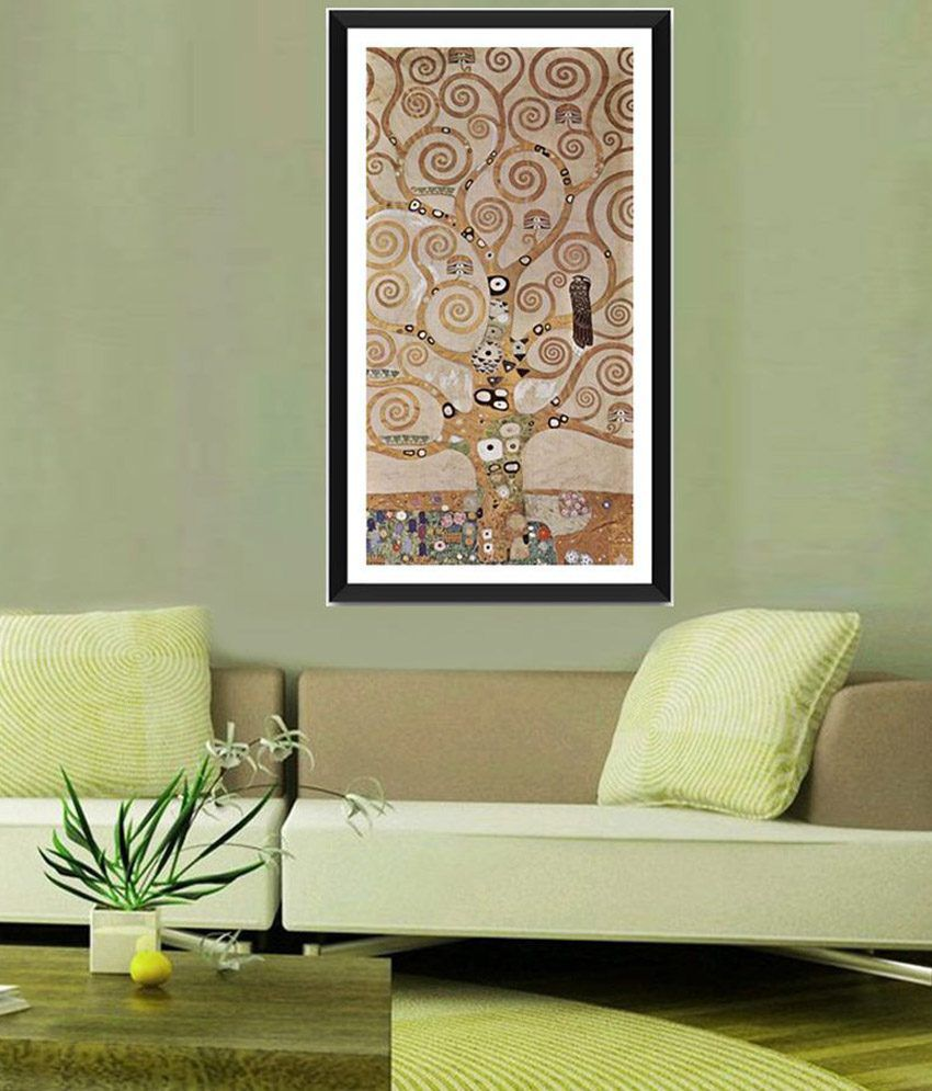 Tallenge The Tree of Life, Stoclet Frieze By Gustav Klimt Framed Art Print