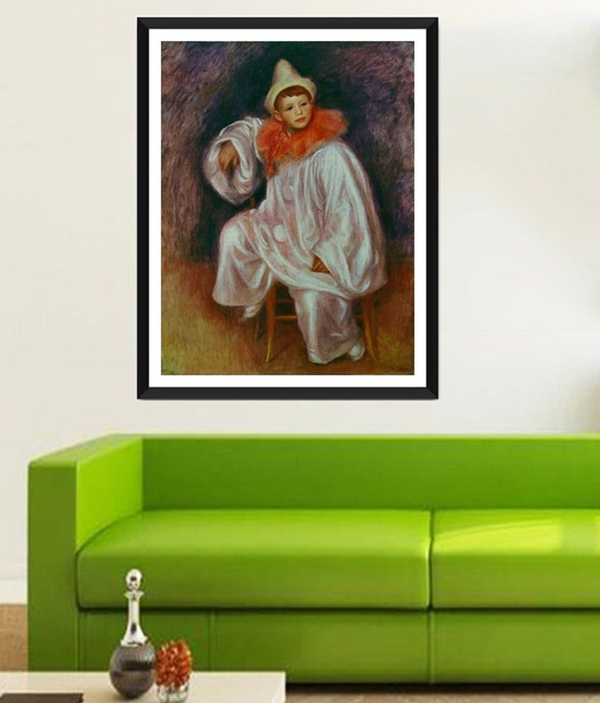 Tallenge White Pierrot By PierreAuguste Renoir Framed Art Print