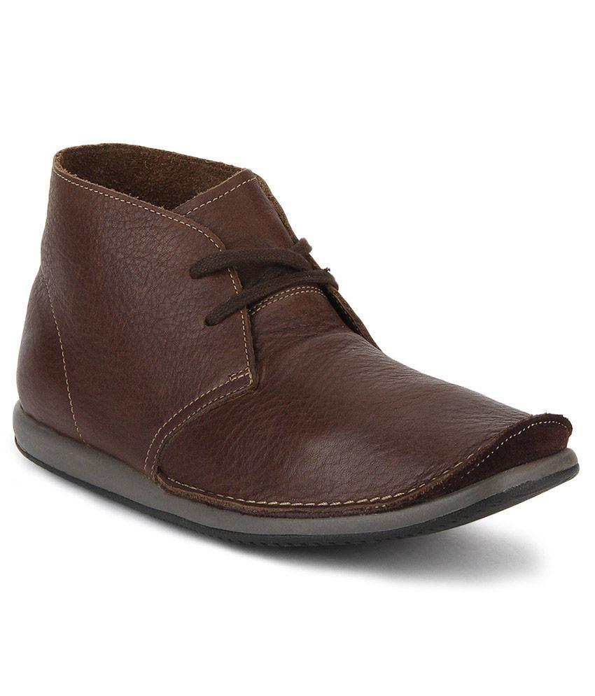 Clarks Newton Mass Brown Boots