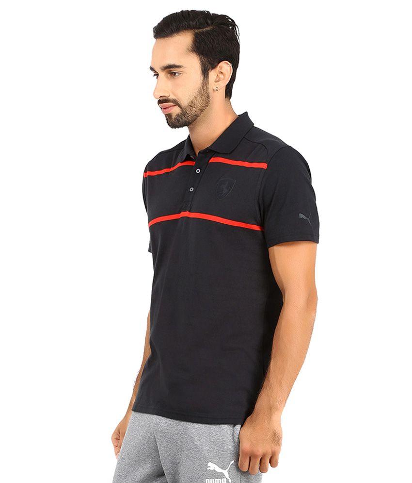 Puma Black Ferrari Polo T Shirt - Buy Puma Black Ferrari ...