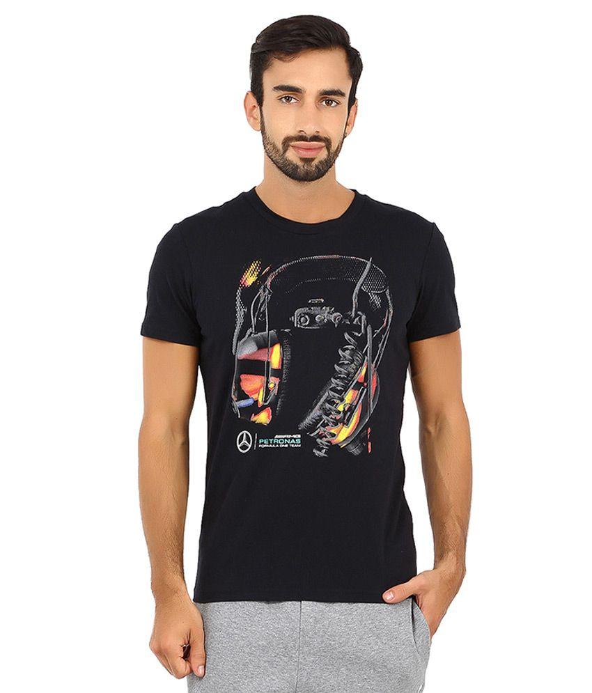 Puma Black Mercedes AMG Petronas T Shirt