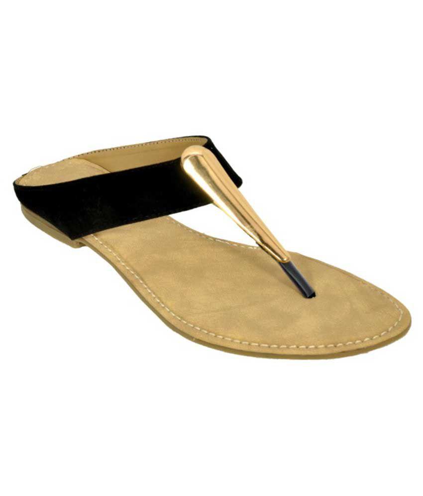 B-shoes Black Flat Slip-on & Sandal