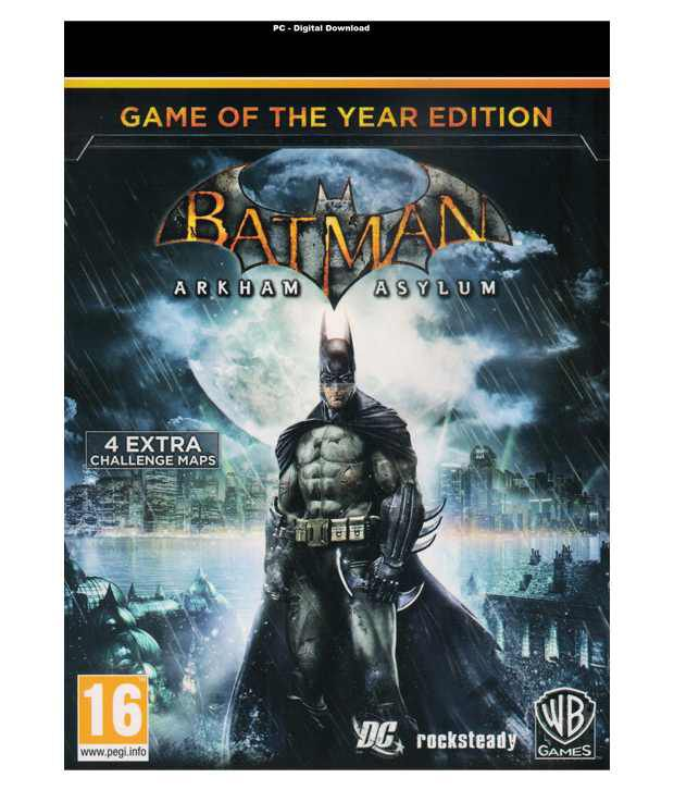Buy Batman: Arkham City GOTY PC (Digital Download Code) Online at