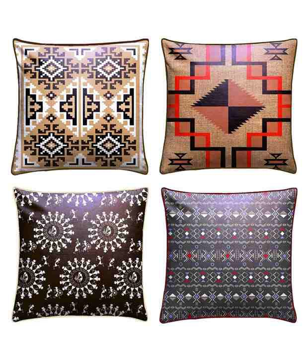 Royalina Multicolor Velvet Cushion Covers - Set Of 4