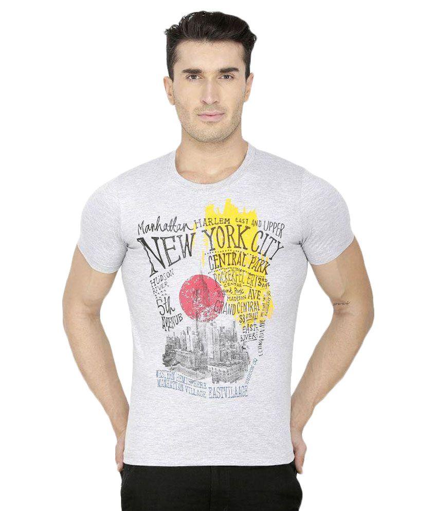 San Vertino Grey Round T Shirts Pack of 3