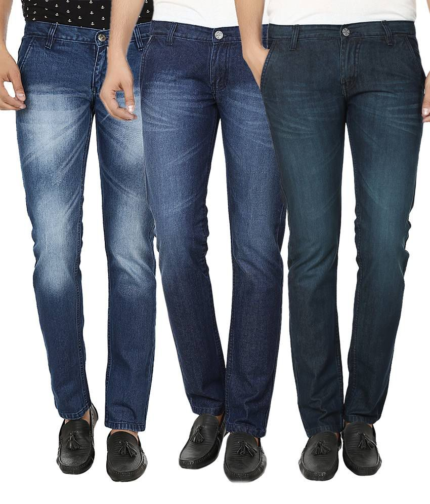 Ben Carter Blue Slim Fit Jeans Pack of 3