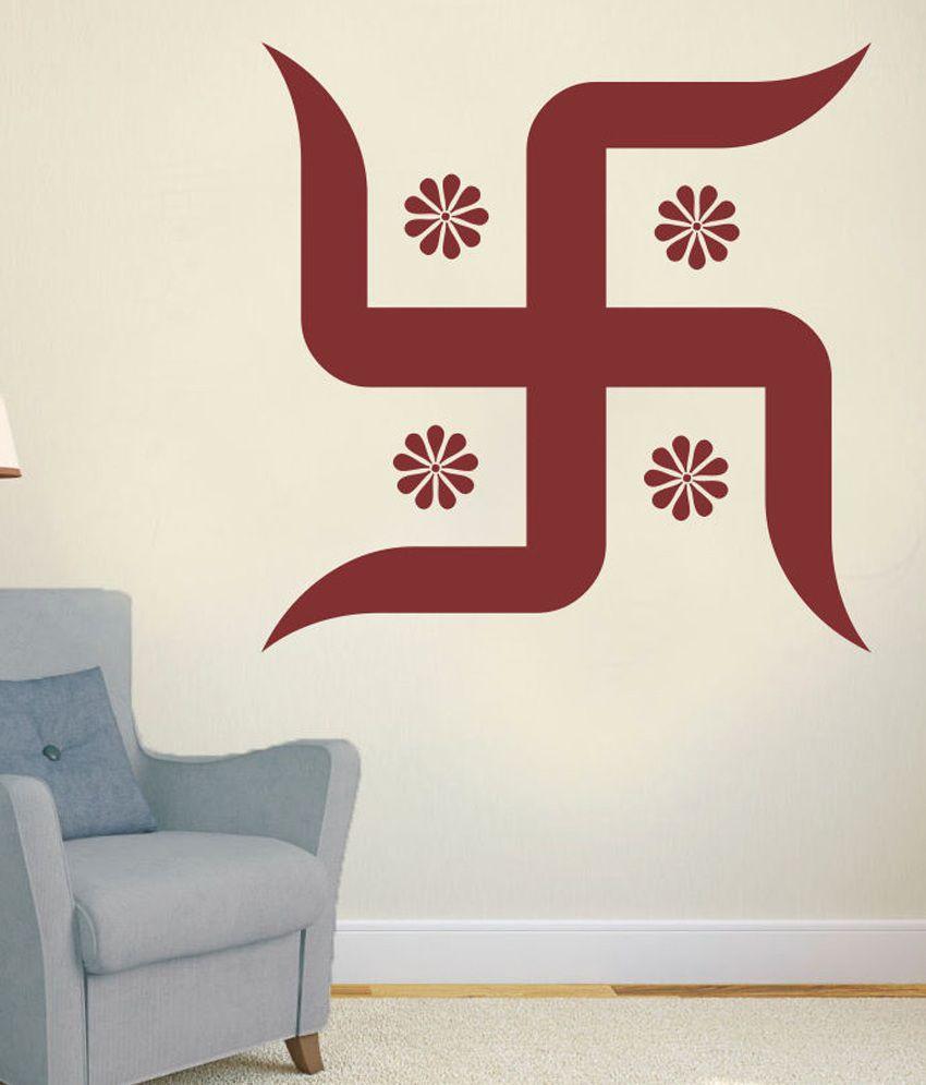 Impression Wall Swastik Design Wall Sticker Impression
