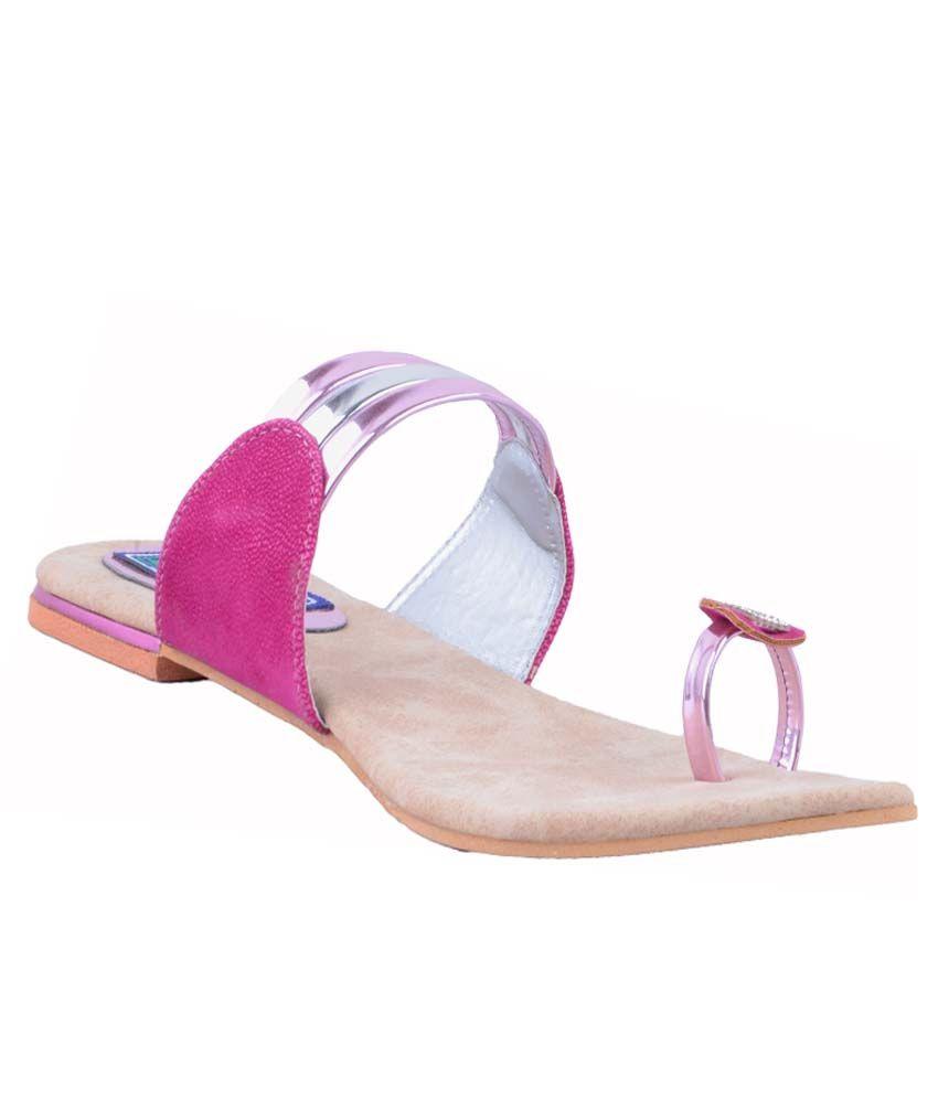 Relexop Pink Flat Slip-on & Sandal