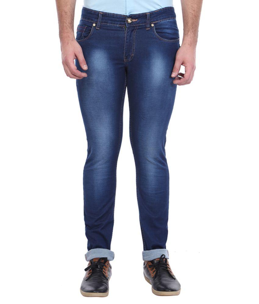 Vintage Navy Skinny Fit Jeans