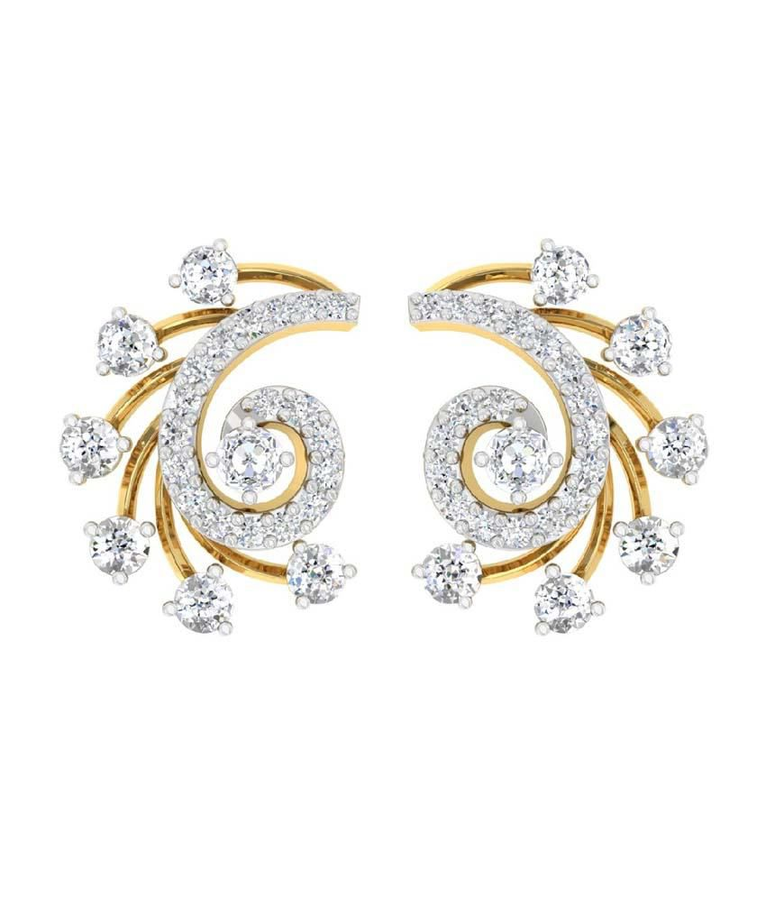 feeec3e3a ... Stud Earrings with 0.79cts Diamonds: Buy TBZ-The Original 18Kt Yellow  Gold Daily Wear Stud Earrings with 0.79cts Diamonds Online in India on  Snapdeal
