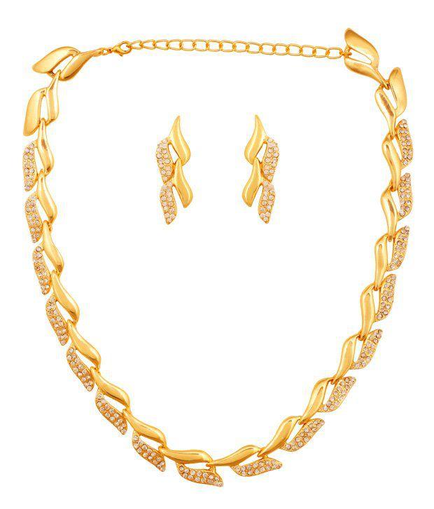 Touchstone Golden Necklace Set