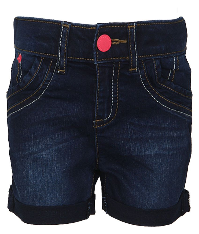 United Colors of Benetton Blue Denim Shorts