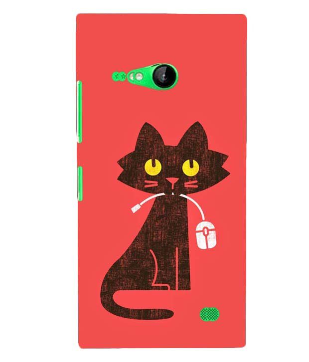 promo code 31500 60ee2 Mobile Makeup Cat With Mouse Back Case Cover for Nokia Lumia 730 ...