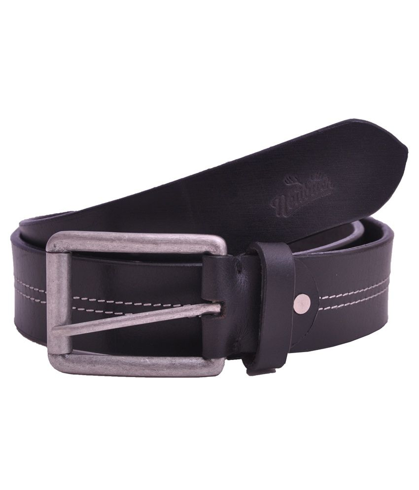 Neubuck Black Leather Belt