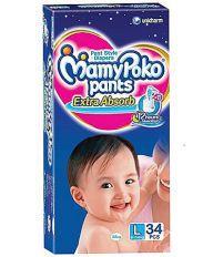 Mamy Poko Pants Extra Absorb L (9-14 Kg), 34 Pcs