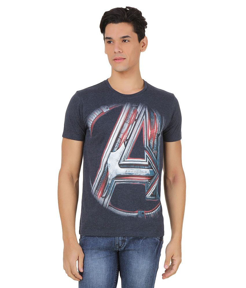 Avenger Age of Ultron Navy Printed T-Shirt