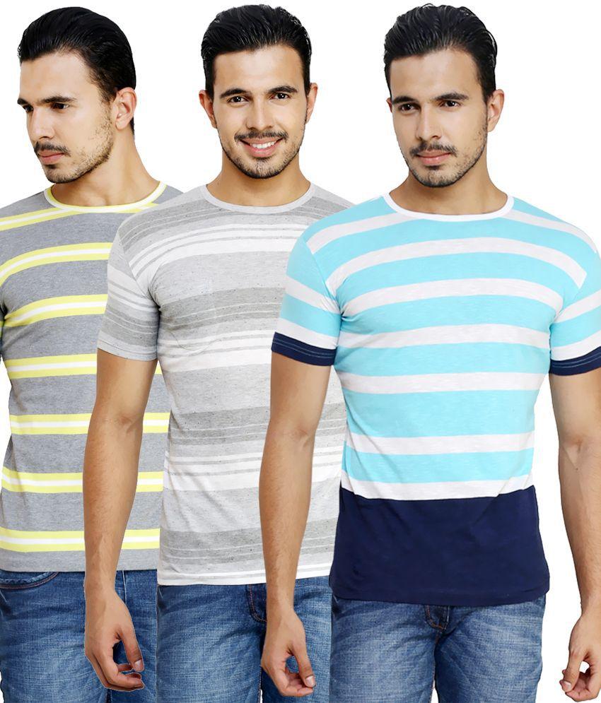 Ebry Multi Round T Shirts Pack of 3