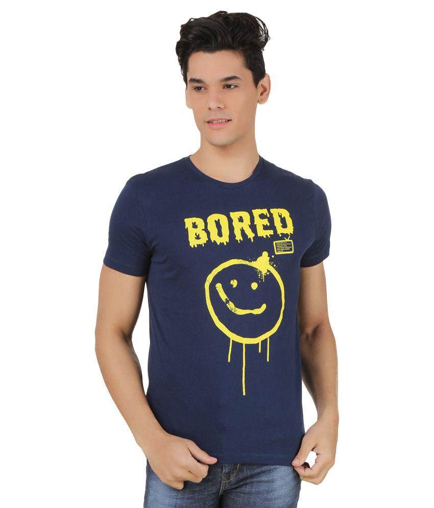 Sherlock Navy Printed T-Shirt