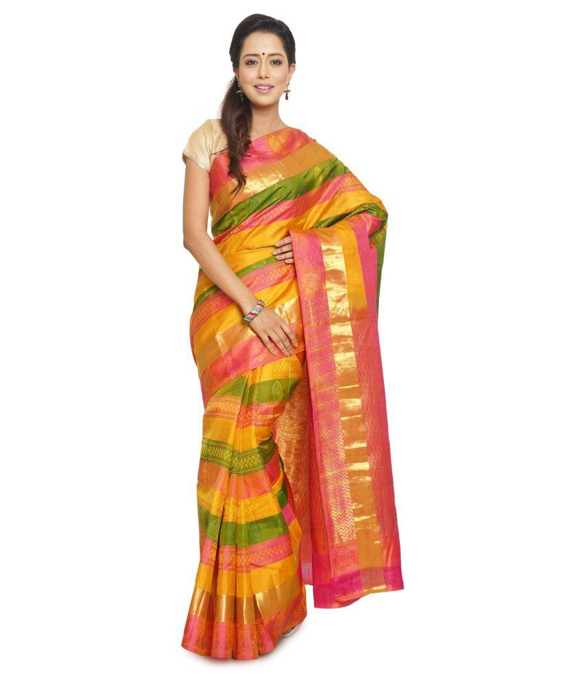 Sudarshanfamilystore.com Multicoloured Silk Saree