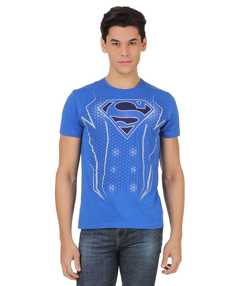 Superman Blue Printed T-Shirt