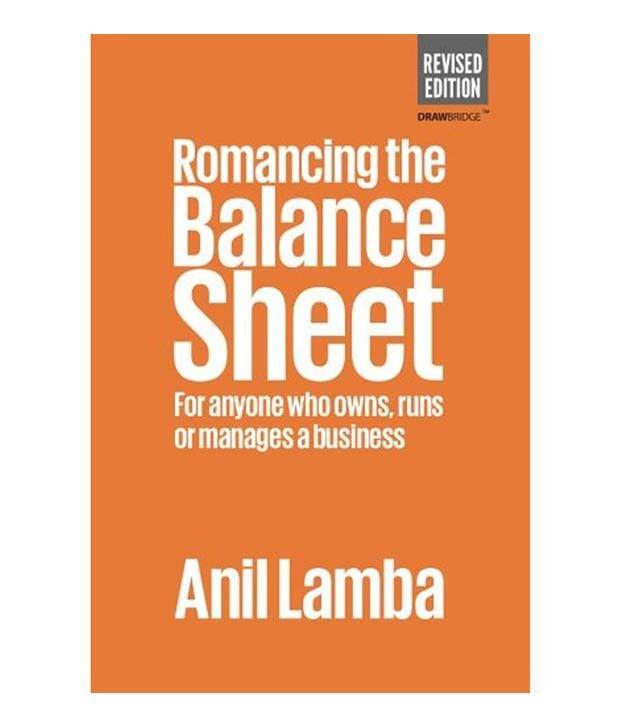 romancing the balance sheet buy romancing the balance sheet online